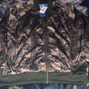 Adidas NWT checkerboard track jacket 2XL